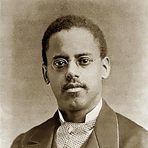 Cropped studio portrait photo of Lewis Howard Latimer, 1882.