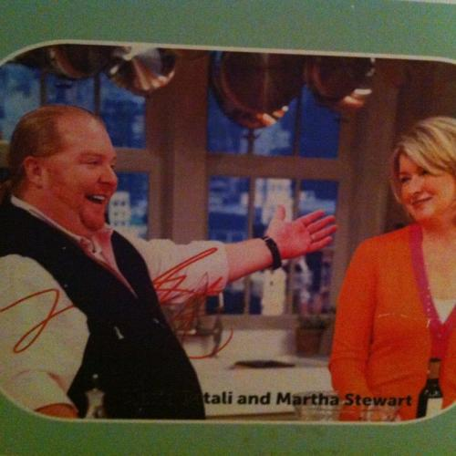 Martha Stewart and Mario Batali in 2007