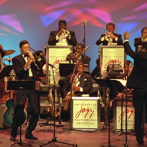 Smithsonian Jazz Masterworks Orchestra performing in 1997
