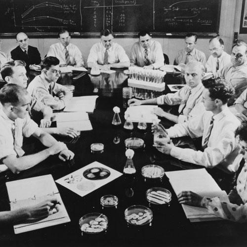 A historical photo of the USDA offices in Peoria