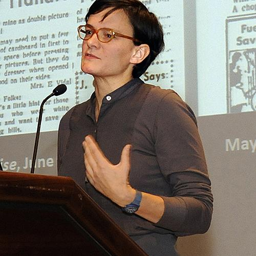 Bess Williamson speaks at the 2010 symposium, Food for Tomorrow