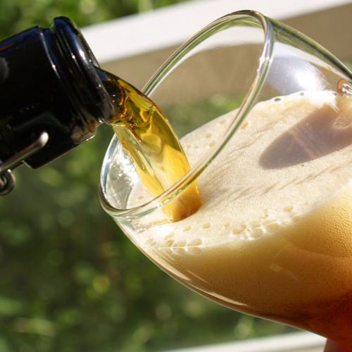 Stock photo of pouring a beer