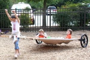 Children test Chase Lewis's travois design