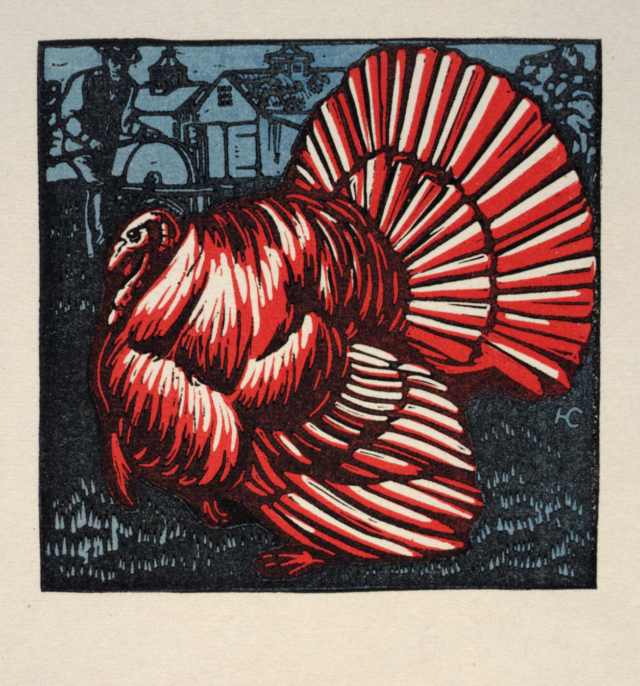 Turkey woodcut.