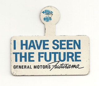 A pin in the Museum's collection from the 1964 New York World's Fair.