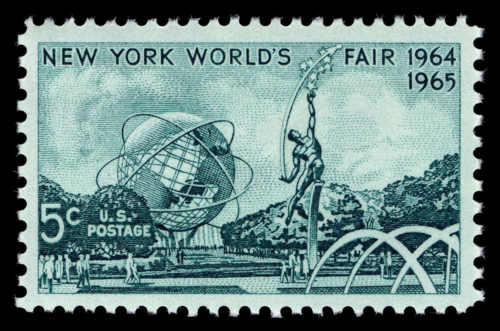 US stamp commemorating the 1964 New York World's Fair